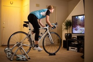 Indoor trainer - sometimes you are forced to cycle indoors