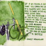 Cycling Quote by Ernest Hemingway